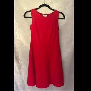 Red Loft tank dress, flowy flare, nice material